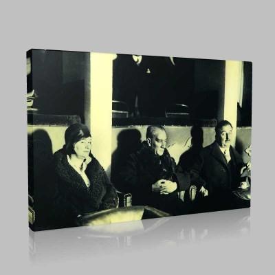 Siyah Beyaz Atatürk Resimleri  544 Kanvas Tablo