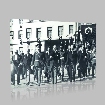 Siyah Beyaz Atatürk Resimleri  559 Kanvas Tablo