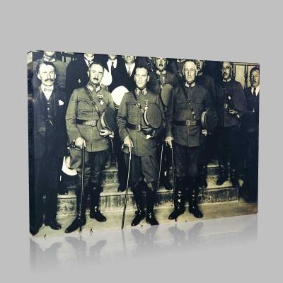 Siyah Beyaz Atatürk Resimleri  639 Kanvas Tablo