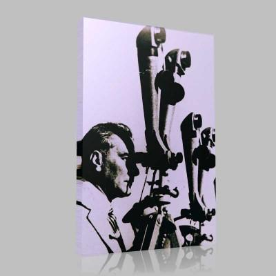Siyah Beyaz Atatürk Resimleri  64 Kanvas Tablo