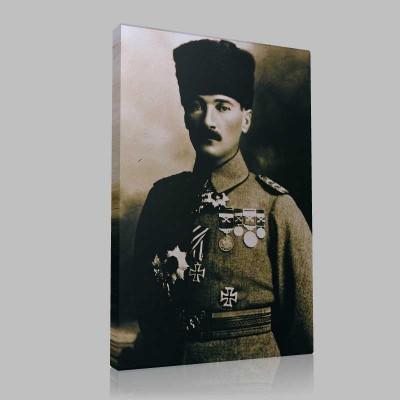 Siyah Beyaz Atatürk Resimleri  643 Kanvas Tablo