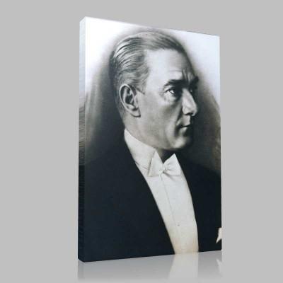Siyah Beyaz Atatürk Resimleri  646 Kanvas Tablo