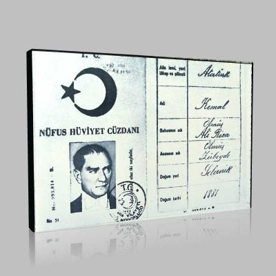 Siyah Beyaz Atatürk Resimleri  650 Kanvas Tablo