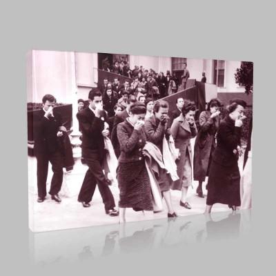 Siyah Beyaz Atatürk Resimleri  652 Kanvas Tablo