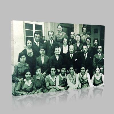 Siyah Beyaz Atatürk Resimleri  67 Kanvas Tablo