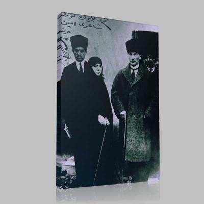 Siyah Beyaz Atatürk Resimleri  7 Kanvas Tablo