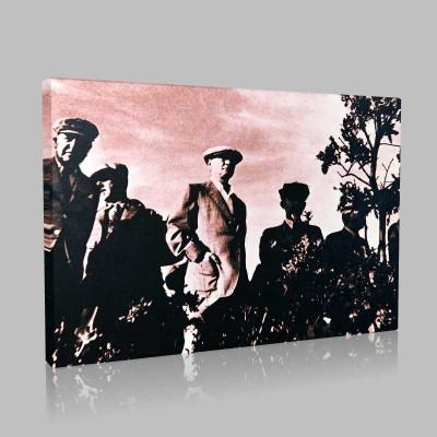 Siyah Beyaz Atatürk Resimleri  78 Kanvas Tablo