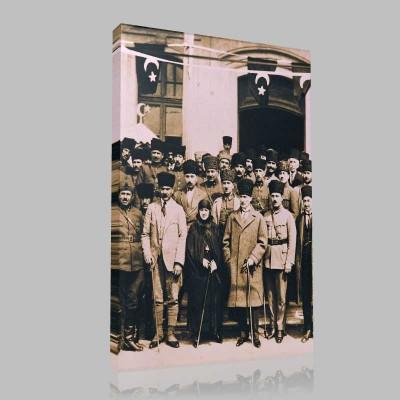 Siyah Beyaz Atatürk Resimleri  8 Kanvas Tablo