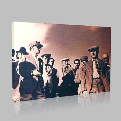 Siyah Beyaz Atatürk Resimleri  80 Kanvas Tablo