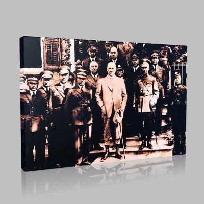 Siyah Beyaz Atatürk Resimleri  83 Kanvas Tablo