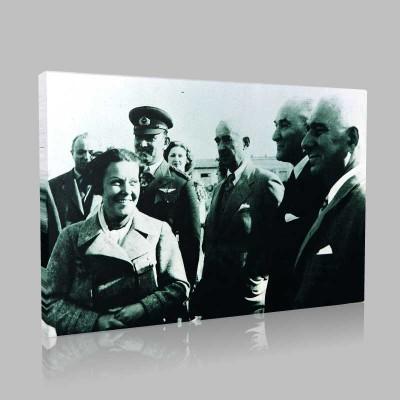 Siyah Beyaz Atatürk Resimleri  91 Kanvas Tablo