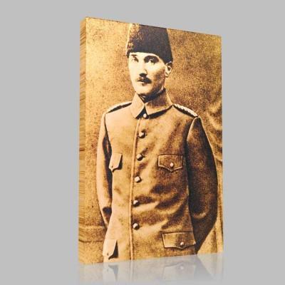 Siyah Beyaz Atatürk Resimleri  92 Kanvas Tablo