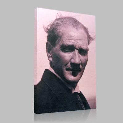 Siyah Beyaz Atatürk Resimleri  93 Kanvas Tablo