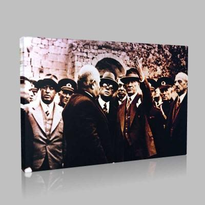 Siyah Beyaz Atatürk Resimleri  95 Kanvas Tablo