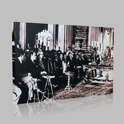 Siyah Beyaz Atatürk Resimleri  99 Kanvas Tablo