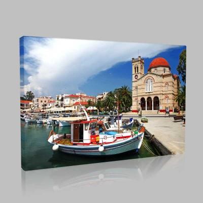 Aegina Adası Kanvas Tablo