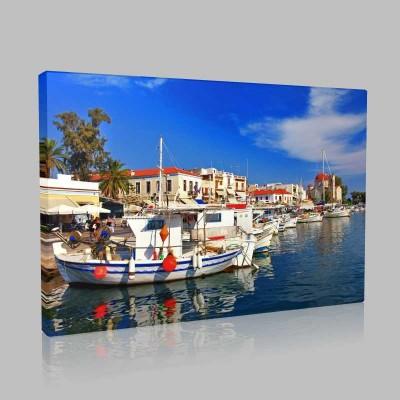 Aegina Adası Yunanistan Kanvas Tablo
