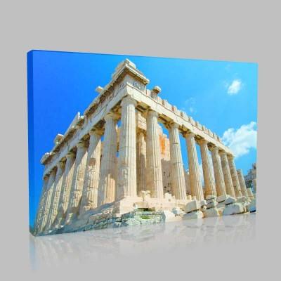 Atina Akropolisi Kanvas Tablo