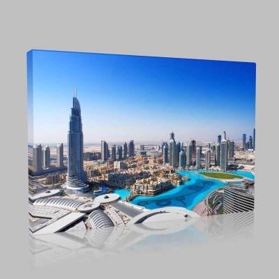 Aydınlık Şehir Dubai Kanvas Tablo