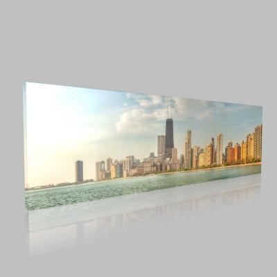 Chicago Güneşli Bir Gün Kanvas Tablo