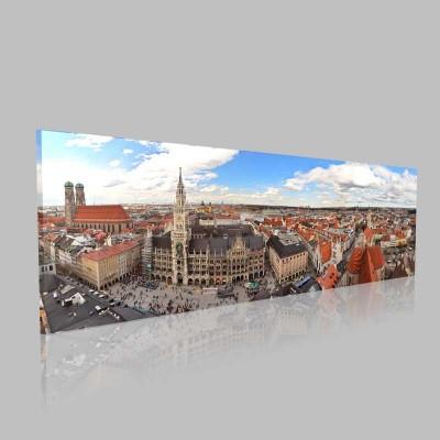 Münih Şehir Merkezi Kanvas Tablo