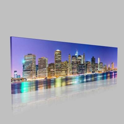 New York Şehrin İşıltısı Kanvas Tablo