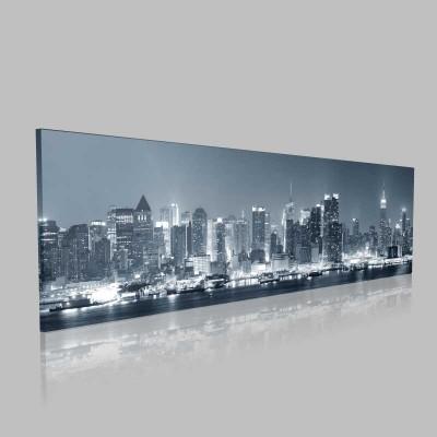 New York Manhattan Siyah Beyaz Kanvas Tablo