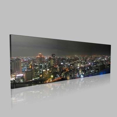 Osaka Panorama Kanvas Tablo