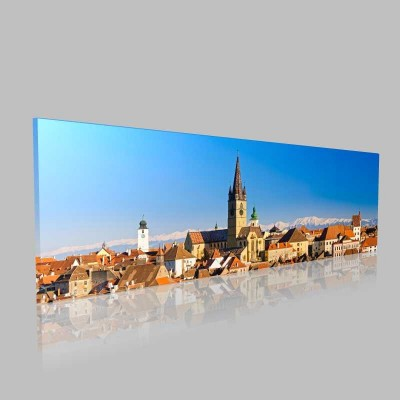 Sibiu Panorama Kanvas Tablo
