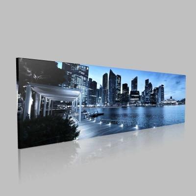 Singapur Günbatımı Kanvas Tablo