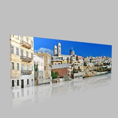 Siros Adası Kanvas Tablo