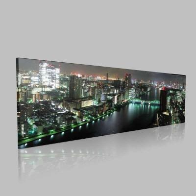 Tokyo Gece Panorama Kanvas Tablo