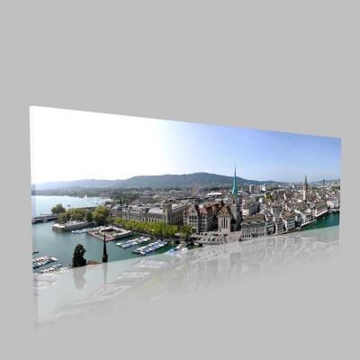 Zurih Gündüz Panorama Kanvas Tablo