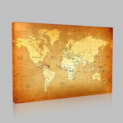 Dünya Siyasi Haritası Kanvas Tablo