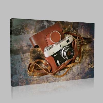 Nostaljik Fotoğraf Makinası Kanvas Tablo