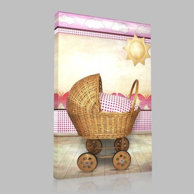 Pembe Bebek Sepeti Kanvas Tablo