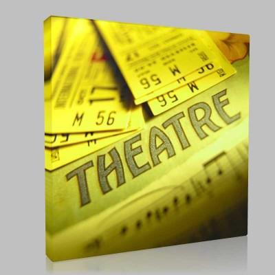 Tiyatro Biletleri Kanvas Tablo
