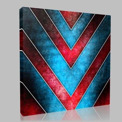 V For Red Blue Kanvas Tablo