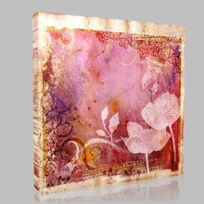 Vintage Çiçek  Kanvas Tablo
