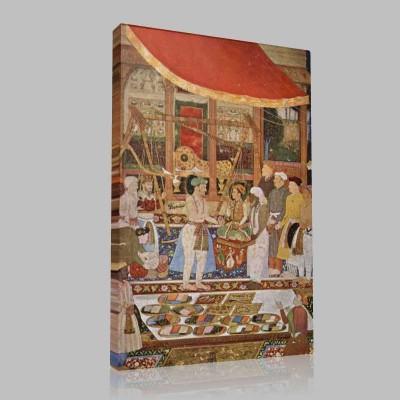 Emperor Jahangir Weighing His Son Kanvas Tablo
