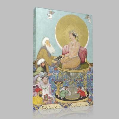 Jahangir Preferring A Sufi Sheikh To Kings Kanvas Tablo