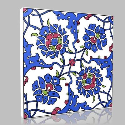 Motif Çiçek Kanvas Tablo