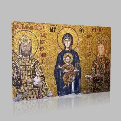 Meryem Ve Kucağında İsa Kanvas Tablo