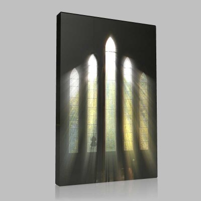 Tapınaktan Süzülen Işık Kanvas Tablo