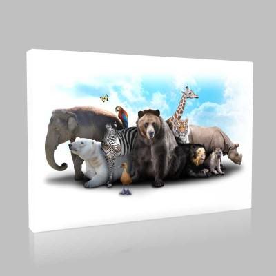 Hayvanlar Alemi Kanvas Tablo
