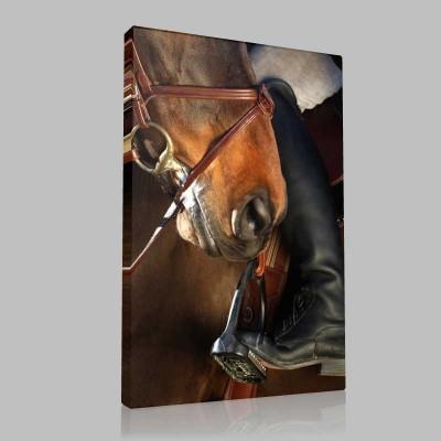 Jockey Horse Kanvas Tablo