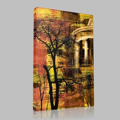 Ağaç Ve Sütunlar  Kanvas Tablo