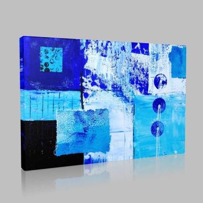 Abstract Mavili Kanvas Tablo