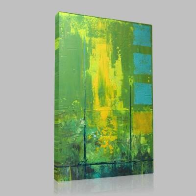 Abstract Yeşilli Kanvas Tablo