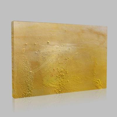 Sarı Toz Kanvas Tablo